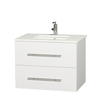 Centra 30 Single Bathroom Vanity Set Base Finish: Matte White