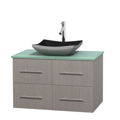 Centra 36 Single Bathroom Vanity Set Base Finish: Gray Oak