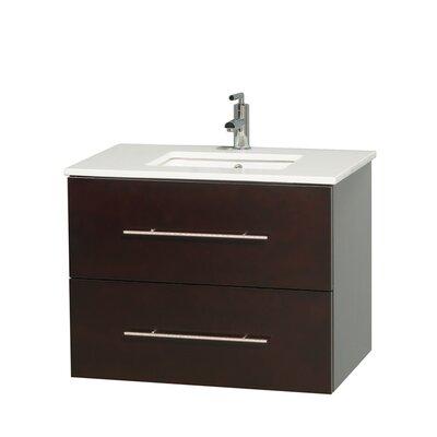 Centra 30 Single Bathroom Vanity Set Base Finish: Espresso