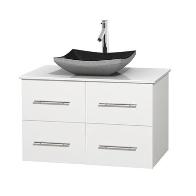 Centra 36 Single Bathroom Vanity Set Base Finish: Matte White