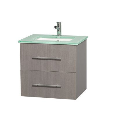Centra 24 Single Bathroom Vanity Set Base Finish: Gray Oak