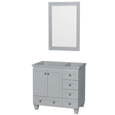 Acclaim 35 Single Bathroom Vanity Base Base Finish: Oyster Gray