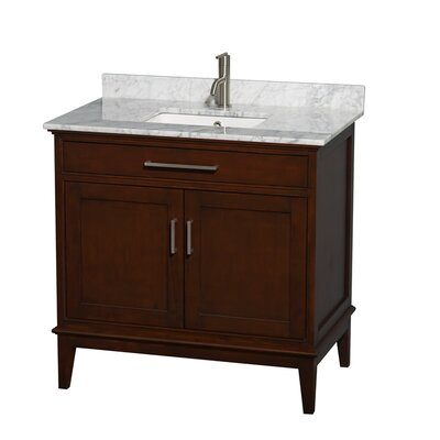 Hatton 36 Single Bathroom Vanity Set Base Finish: Light Chestnut, Top Finish: Ivory