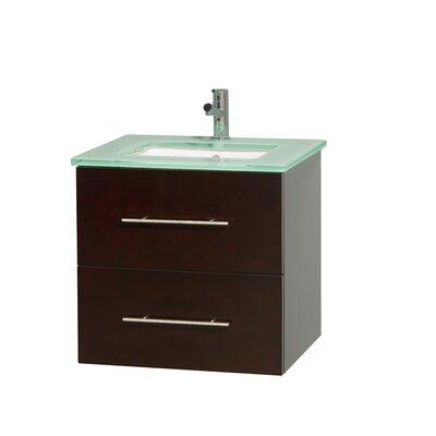 Centra 24 Single Bathroom Vanity Set Base Finish: Espresso
