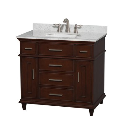 Berkeley 36 Single Bathroom Vanity Set Base Finish: White, Top Finish: White Carrera