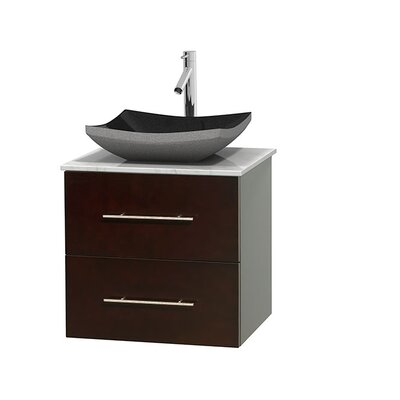 Centra 24 Single Bathroom Vanity Set Base Finish: Gray Oak, Top Finish: Ivory