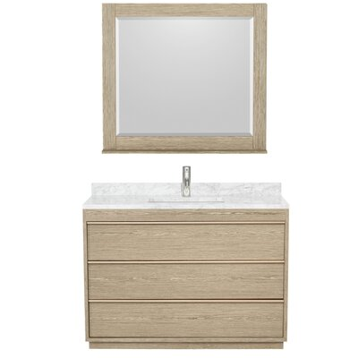 Naya 60 Double Ash Gray Bathroom Vanity Set with Mirror