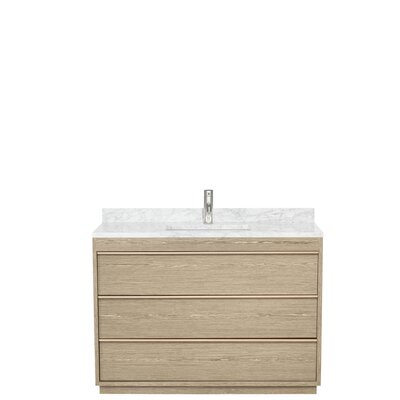 Naya 48 Single Ash Gray Bathroom Vanity Set