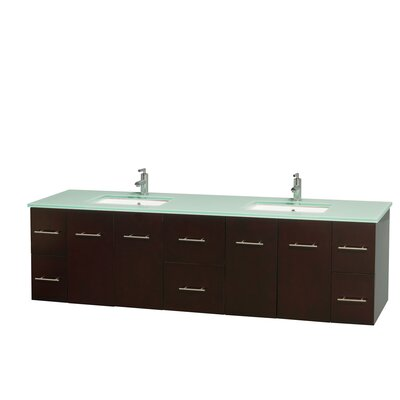 Centra 80 Double Bathroom Vanity Set Base Finish: Espresso
