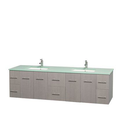 Centra 80 Double Bathroom Vanity Set Base Finish: Gray Oak