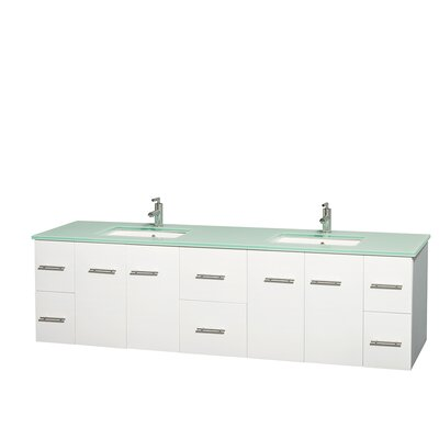 Centra 80 Double Bathroom Vanity Set Base Finish: Matte White