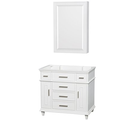 Berkeley 35 Single Bathroom Vanity Base Base Finish: White