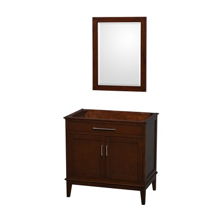 Hatton 35 Single Bathroom Vanity Base Base Finish: Dark Chestnut