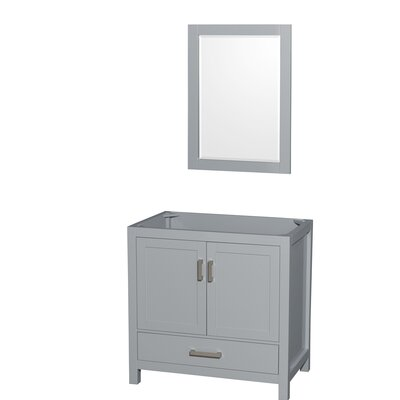 Sheffield 35 Single Bathroom Vanity Base Base Finish: Gray