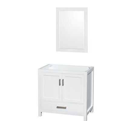 Sheffield 35 Single Bathroom Vanity Base Base Finish: White