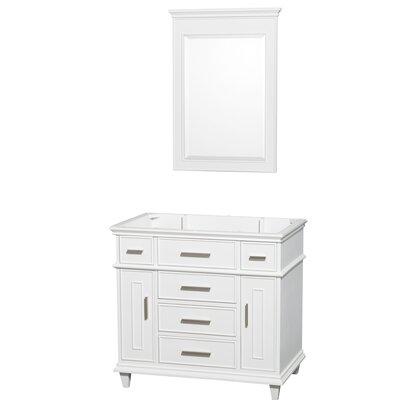 Berkeley 35 Single Bathroom Vanity Base Base Finish: White