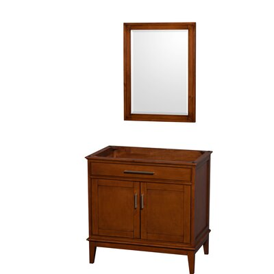 Hatton 35 Single Bathroom Vanity Base Base Finish: Light Chestnut