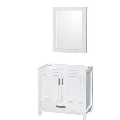 Sheffield 29 Single Bathroom Vanity Base Base Finish: White