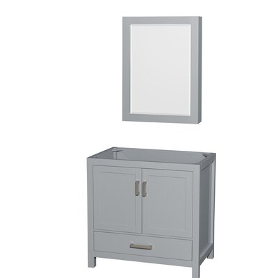 Sheffield 29 Single Bathroom Vanity Base Base Finish: Gray