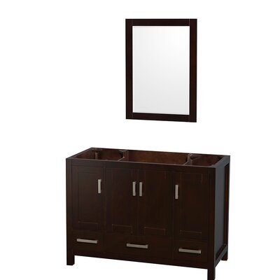 Sheffield 47 Single Bathroom Vanity Base Base Finish: Espresso