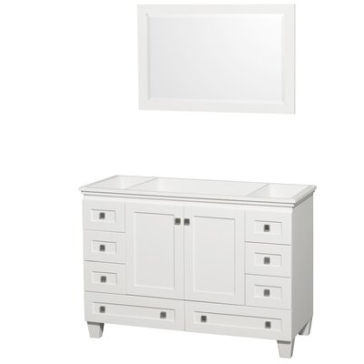 Acclaim 47 Single Bathroom Vanity Base Base Finish: White