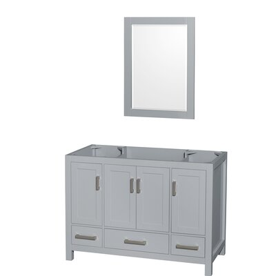 Sheffield 47 Single Bathroom Vanity Base Base Finish: Gray