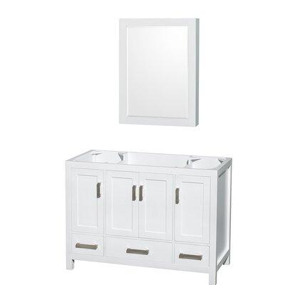 Sheffield 47 Single Bathroom Vanity Base Base Finish: White