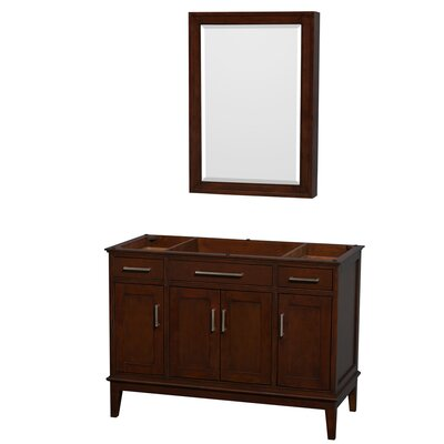 Hatton 47 Single Bathroom Vanity Base Base Finish: Dark Chestnut