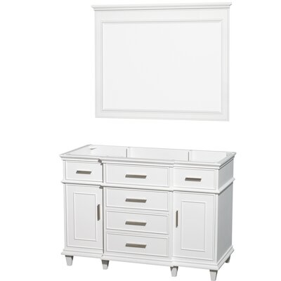 Berkeley 47 Single Bathroom Vanity Base Base Finish: White
