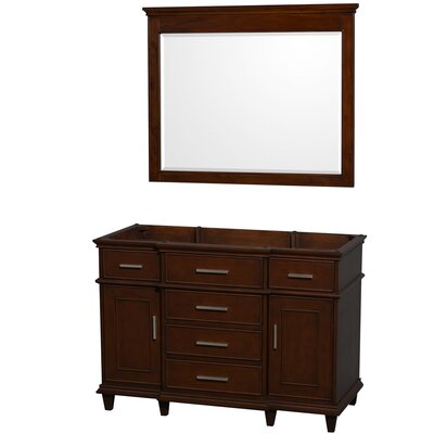 Berkeley 47 Single Bathroom Vanity Base Base Finish: Dark Chestnut