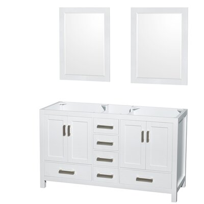 Sheffield 59 Double Bathroom Vanity Base Base Finish: White