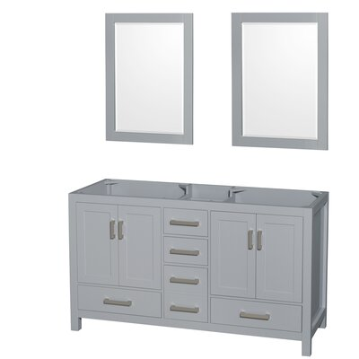 Sheffield 59 Double Bathroom Vanity Base Base Finish: Gray