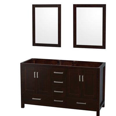 Sheffield 59 Double Bathroom Vanity Base Base Finish: Espresso