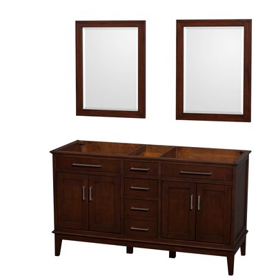Hatton 59 Double Bathroom Vanity Base Base Finish: Dark Chestnut