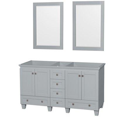Acclaim 59 Double Bathroom Vanity Base Base Finish: Oyster Gray