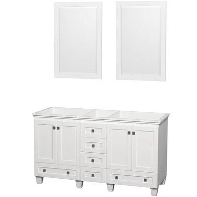 Acclaim 59 Double Bathroom Vanity Base Base Finish: White