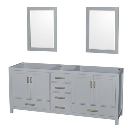 Sheffield 79 Double Bathroom Vanity Base Base Finish: Gray