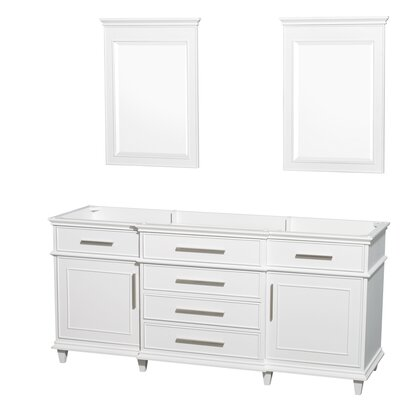 Berkeley 71 Double Bathroom Vanity Base Base Finish: White