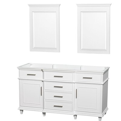 Berkeley 59 Double Bathroom Vanity Base Base Finish: White