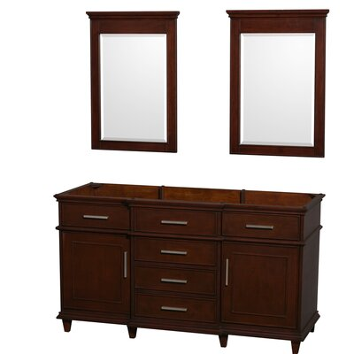Berkeley 59 Double Bathroom Vanity Base Base Finish: Dark Chestnut