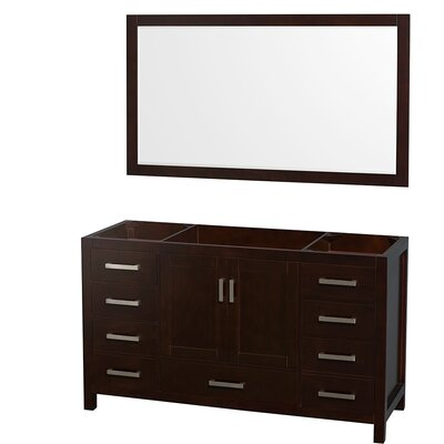 Sheffield 59 Single Bathroom Vanity Base Base Finish: Espresso