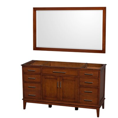 Hatton 59 Single Bathroom Vanity Base Base Finish: Light Chestnut
