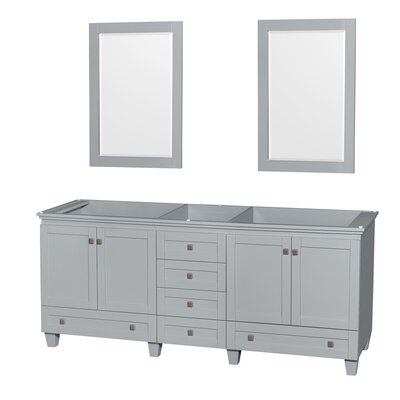 Acclaim 78.75 Double Bathroom Vanity Base Base Finish: Oyster Gray