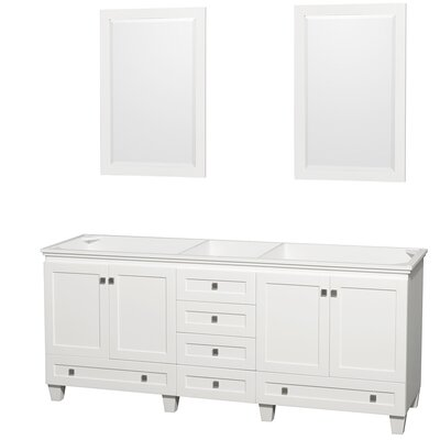 Acclaim 78.75 Double Bathroom Vanity Base Base Finish: White