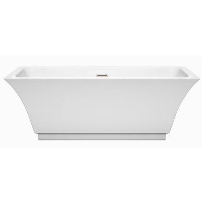 Galina 67 x 31.25 Freestanding Soaking Bathtub