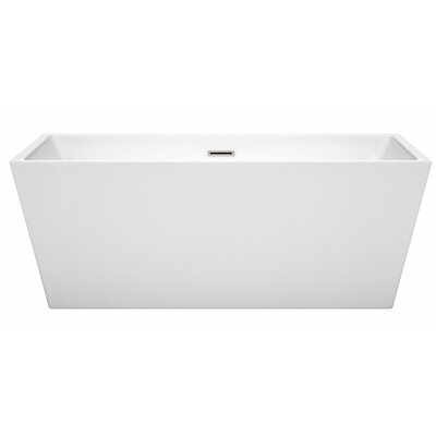 Sara 63 x 31.5 Freestanding Soaking Bathtub