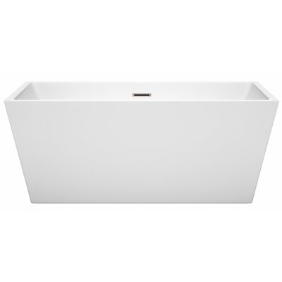 Sara 59 x 31.5 Freestanding Soaking Bathtub