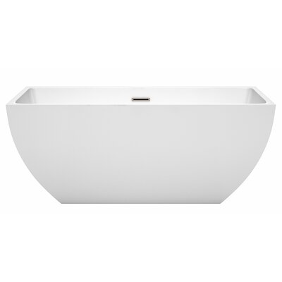 Rachel 59 x 29.5 Freestanding Soaking Bathtub