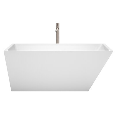 Hannah 59 x 29.5 Freestanding Soaking Bathtub