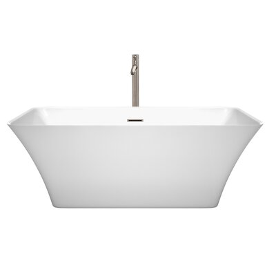 Tiffany 59 x 29.5 Freestanding Soaking Bathtub